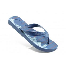 Мъжки чехли - висококачествен pvc материал - сини - EO-4018