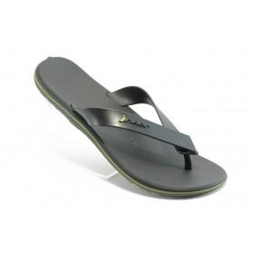 Мъжки чехли - висококачествен pvc материал - черни - EO-4033