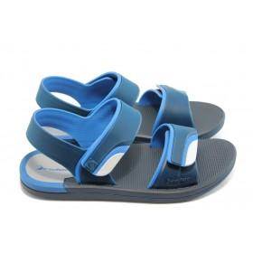 Мъжки сандали - висококачествен pvc материал - сини - EO-4038