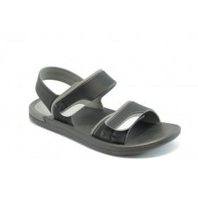 Мъжки сандали - висококачествен pvc материал - черни - EO-4041