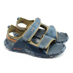 Мъжки сандали - висококачествен pvc материал - сини - EO-4034