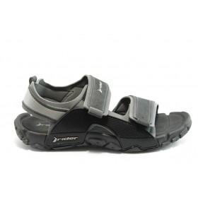 Мъжки сандали - висококачествен pvc материал - черни - EO-4048