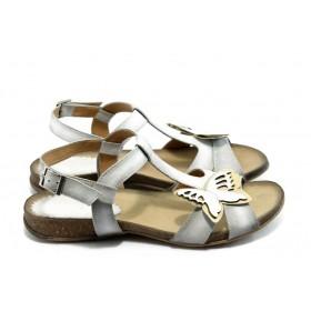 Дамски сандали - естествена кожа - бели - EO-4066