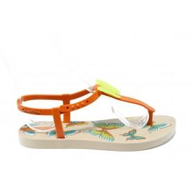 Детски сандали - висококачествен pvc материал - оранжеви - EO-4433