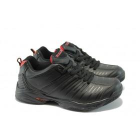 Юношески маратонки - еко-кожа - черни - EO-4709