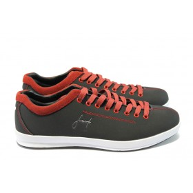 Спортни мъжки обувки - естествен набук - черни - EO-4764
