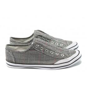 Спортни мъжки обувки - висококачествен текстилен материал - черни - EO-4840