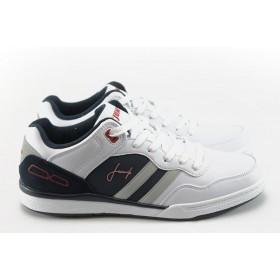Спортни мъжки обувки - еко-кожа - бели - EO-4885