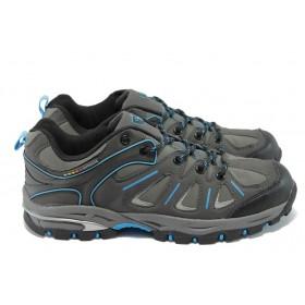 Спортни мъжки обувки - висококачествена еко-кожа - черни - EO-5650