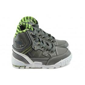 Детски маратонки - висококачествена еко-кожа - зелени - EO-5696