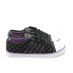 Дамски спортни обувки - висококачествена еко-кожа - черни - МА 13118 черен - 2015