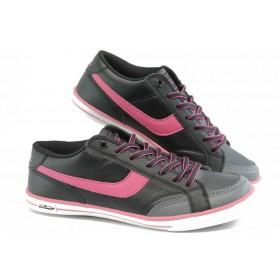 Юношески маратонки - висококачествена еко-кожа - розови - EO-5957
