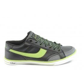 Юношески маратонки - еко-кожа - зелени - EO-869