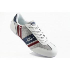 Спортни мъжки обувки - еко-кожа с текстил - бели - EO-3294