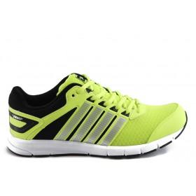 Спортни мъжки обувки - еко-кожа с текстил - зелени - EO-3290