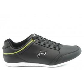 Спортни мъжки обувки - еко-кожа - черни - EO-4735