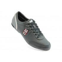 Спортни мъжки обувки - висококачествена еко-кожа - черни - EO-3460