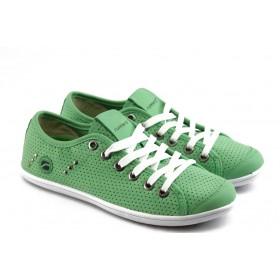 Юношески маратонки - еко-кожа - зелени - EO-3269