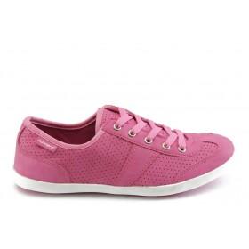 Юношески маратонки - еко-кожа - розови - EO-3270