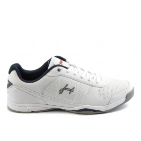 Спортни мъжки обувки - еко-кожа - бели - EO-3463