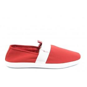 Спортни мъжки обувки - висококачествен текстилен материал - червени - EO-3610