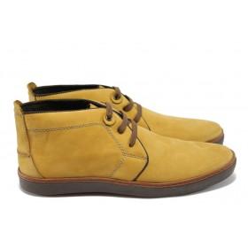 Мъжки боти - естествен набук - жълти - EO-5168