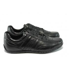 Мъжки обувки - естествена кожа - черни - EO-5744