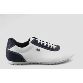 Спортни мъжки обувки - естествена кожа - бели - EO-2914