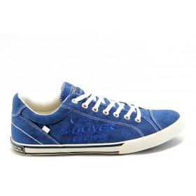 Спортни мъжки обувки - висококачествен текстилен материал - сини - EO-3098