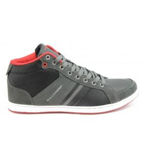Спортни мъжки обувки - еко-кожа - сиви - EO-2981