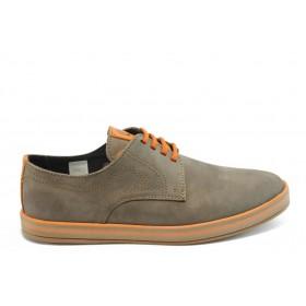 Спортни мъжки обувки - естествен набук - кафяви - EO-3618