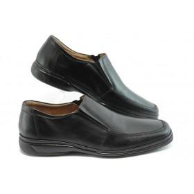 Мъжки обувки - естествена кожа - черни - EO-4109