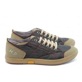 Спортно-елегантни мъжки обувки - висококачествена еко-кожа - черни - EO-4118