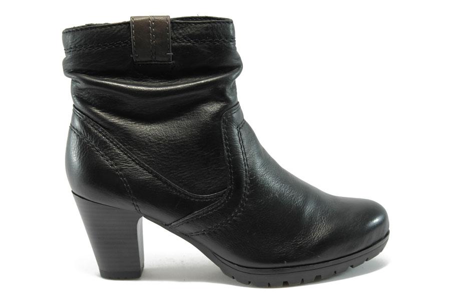 Дамски боти - естествена кожа - черни - EO-4704