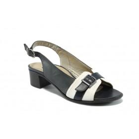 Дамски сандали - естествена кожа - сини - EO-5655