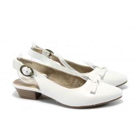 Равни дамски обувки - естествена кожа - бели - EO-5704