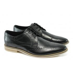 Мъжки обувки - естествена кожа - черни - EO-5743