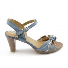 Дамски сандали - естествена кожа - сини - EO-3421