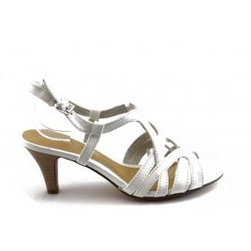 Дамски сандали - висококачествена еко-кожа - бели - EO-3430