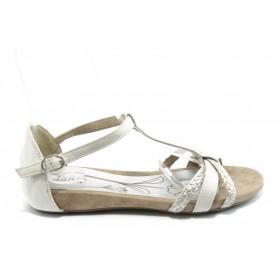 Дамски сандали - висококачествена еко-кожа - бели - EO-4208