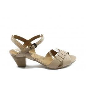 Дамски сандали - естествена кожа - бежови - EO-4328
