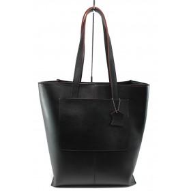 Дамска чанта - висококачествена еко-кожа - черни - СБ 1135А черен