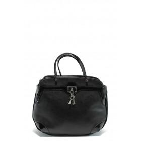 Дамска чанта - висококачествена еко-кожа в съчетание с еко кожа-лак -  - EO-5786