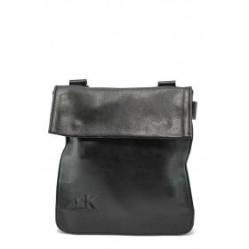 Мъжка чанта - висококачествена еко-кожа - черни - EO-5911