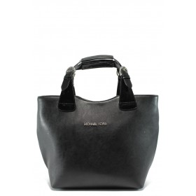 Дамска чанта - висококачествена еко-кожа - черни - EO-5907