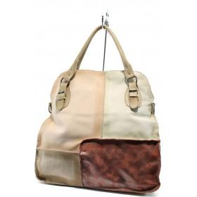 Дамска чанта - естествена кожа - червени - EO-6016
