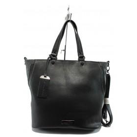 Дамска чанта - висококачествена еко-кожа - черни - Marco Tozzi 2-61106-25 черна