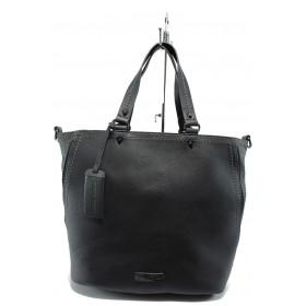 Дамска чанта - висококачествена еко-кожа - сини - Marco Tozzi 2-61106-25 син