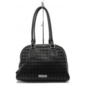 Дамска чанта - висококачествена еко-кожа - черни - Marco Tozzi 2-61110-25 черен