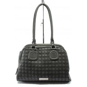 Дамска чанта - висококачествена еко-кожа - сиви - Marco Tozzi 2-61110-25 сив